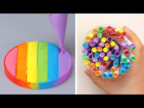Amazing Creative Rainbow Cake Decorating Ideas | Delicious Cake Decorating Recipes | So Tasty Cake