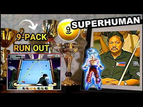 EFREN REYES ENTERS SUPERHUMAN MODE   Savage 9-pack run  