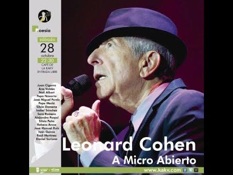 Leonard Cohen A Micro Abierto