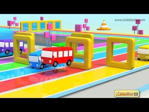 Wheels on the Bus go round and round shapes Rhyme 2 | Homeschool  Parenting Kindergarten | Kiddiestv