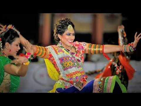 Ariel drone view Live Gandhinagar Cultural Forum Navli Navratri 2017: Day 6 Garba