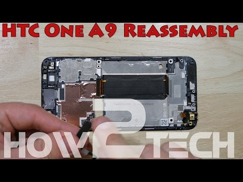 How To Replace A HTC One A9 Cracked Screen - Video Guide