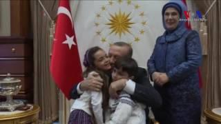 Halep'ten Tweet Atan 7 Yaşındaki Alabed Erdoğan ile Buluştu