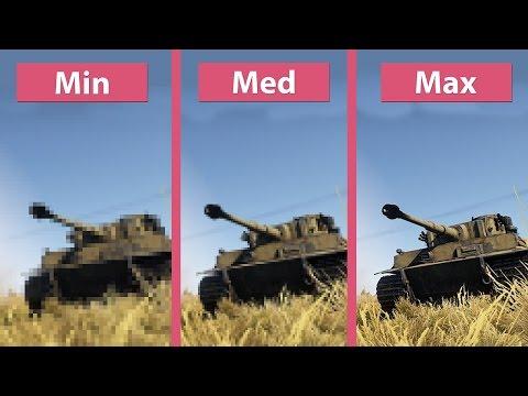 War Thunder – Ground Forces PC Min Vs. Med Vs. Max Graphics Comparison [60fps][FullHD]