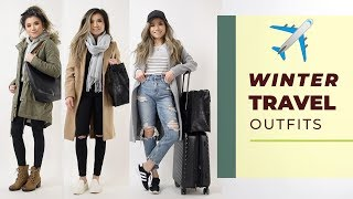 Fall Winter TRAVEL OUTFIT IDEAS 2019 | Travel outfits lookbook | Miss Louie
