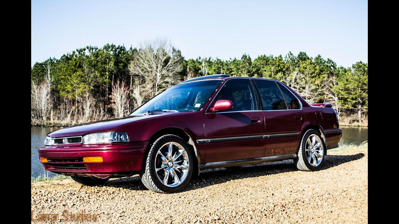 1993 Honda Accord Burnout - YouTube