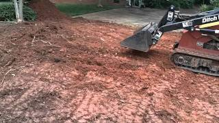 Grading a front lawn for Sod