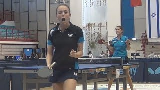 Evgeniya MUGURDUMOVA vs Nicole TROSMAN FINAL Israel, Tel Aviv, Macabiah 2013 Table Tennis