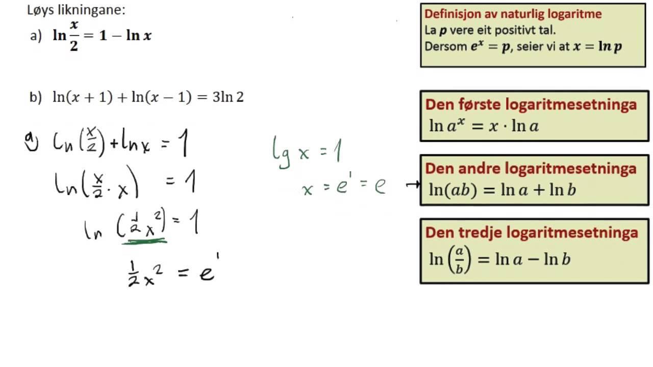 naturlige logaritme