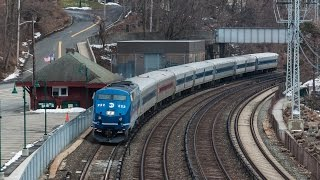 HD: M-N & Amtrak Action Along the Hudson River - Scarborough, NY - 03-21-15
