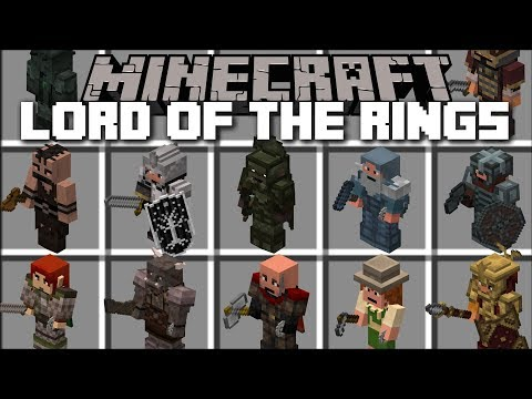 Minecraft LORD OF THE RINGS MOD / SPAWN HUGE CITIES AND WATCH THEM GROW!! Minecraft