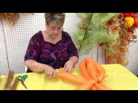 How To Make A Pumpkin Out Of Deco Mesh Ribbon Youtube