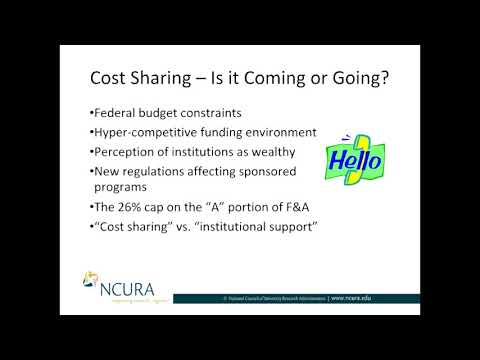 Cost Sharing: Is it Coming or Going? Part I: Is it Coming?