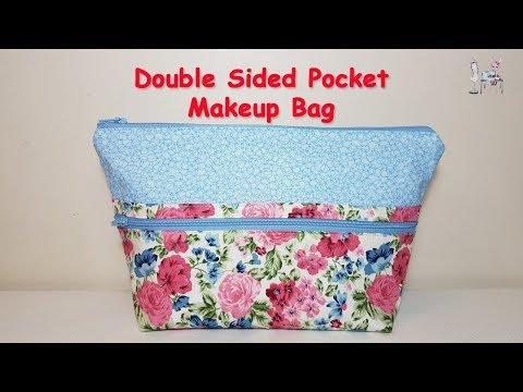 MAKEUP BAG | COSMETIC BAG | ZIPPER POUCH | DIY POUCH | POUCH TUTORIAL| BAG MAKING