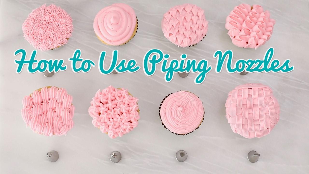 how to use piping nozzles - gemma's bold baking basics ep ... piping layout tips