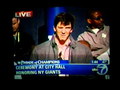 Giants Superbowl XLVI Parade Ceremony - Justin Tuck and Eli Manning