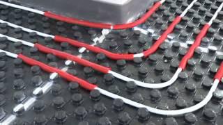 видео Маты для теплого водяного пола (с бобышками)
