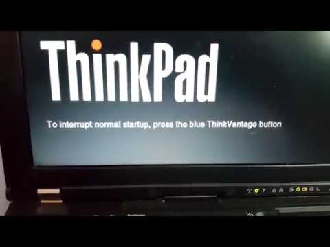 To interrupt normal startup press the blue thinkvantage button  (Lenovo  ThinkPad T400)