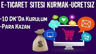 Ücretsiz E-ticaret Sitesi Kurmak--Alışveriş Sitesi-10DK KURULUM