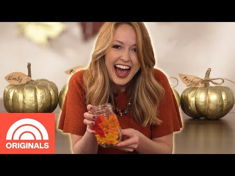 3 Easy DIY Thanksgiving Centerpiece Decorations | Change For A $20 | TODAY