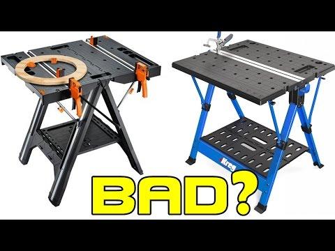 WORX VS KREG Folding Work Table Review - One WINNER, One LOSER!🌟