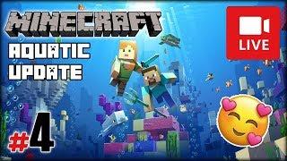 """[Archiwum] Live - Minecraft Wodna Aktualizacja z MaryKateAn (1) - [4/4] - """"Trójząb i małe żółwiki"""""""