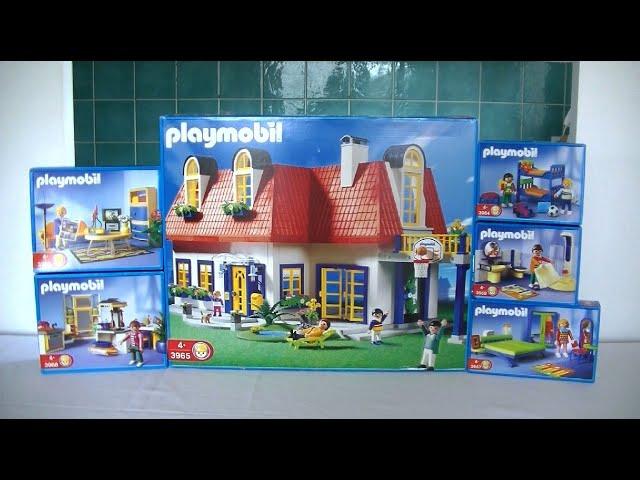 Unboxing Playmobil Fr La Maison Moderne 2000 3964 3965 3966 3967 3968 3969 Youtube