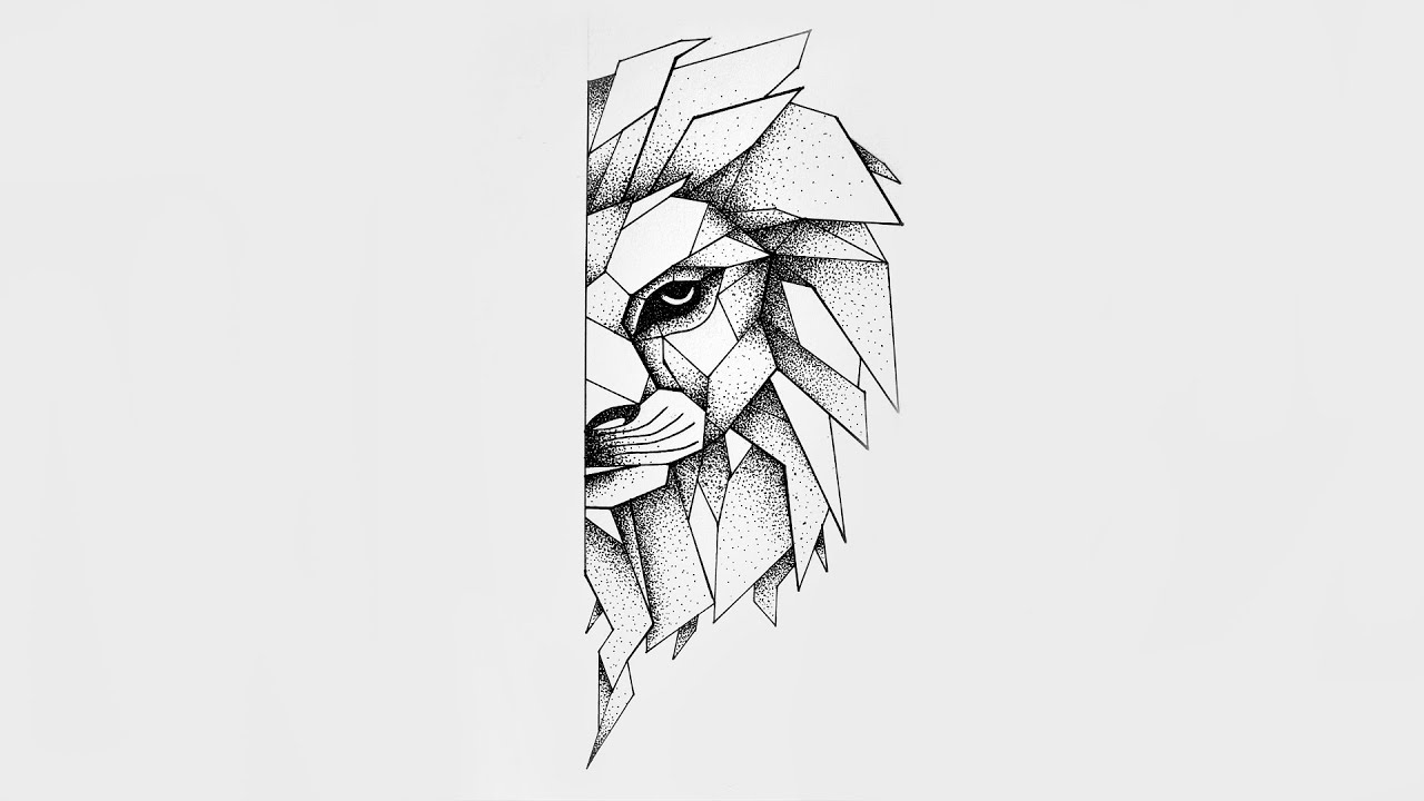 Dotwork Lion Speed Drawing 2 Youtube