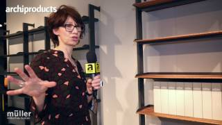 Imm Cologne 2017 | Muller - Evelyn Hummel Talks about Scala, the new modular and customizable shelf