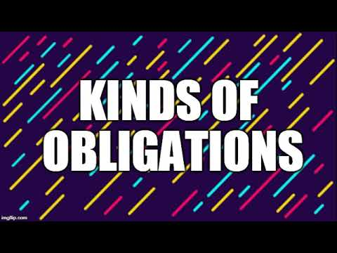 Summary Of Kinds Of Obligations