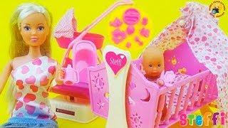 Кукла Штеффи с младенцем, познавательный обзор мультфильм для девочек / Play set for kids, Baby doll