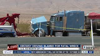 Drowsy semi truck driver blamed for fatal wreck