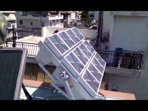 Lighthouse Multipyramid Fresnel Solar Collector Multipyramid with Sun Tracking