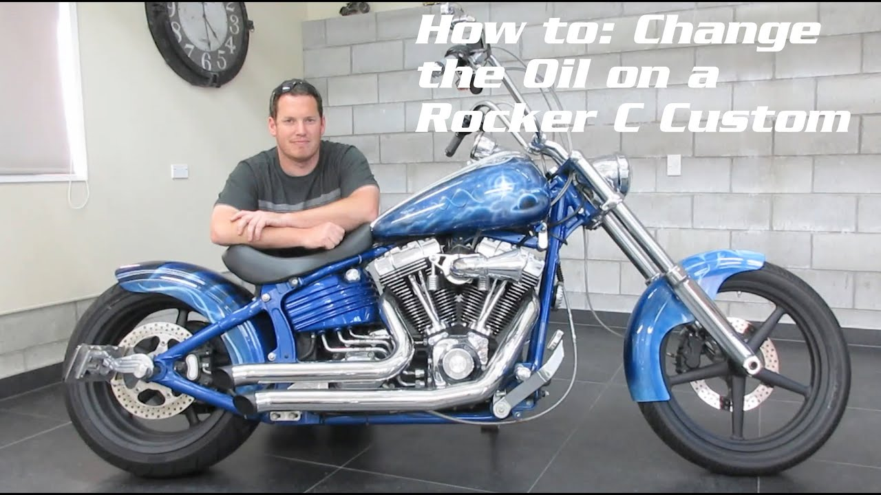 Oil Change a Harley Davidson Rocker C / Softail + Walk around ...