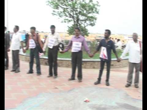 AGNI NEWS HUMAN CHAIN AGAINST CASTE DISCRIMINATION AT CHENNAI
