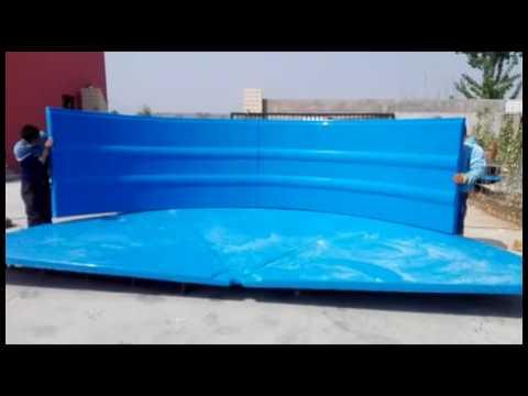 Collapsible Fiberglass Aquaculture RAS Fish Tank(ID5 4M)