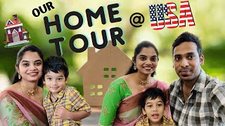 👨‍👩‍👦 Our Home Tour 🏡 | Our first Own House USA | Happy Place | USA | Telugu Vlogs | VLOGMAS | DAY 6
