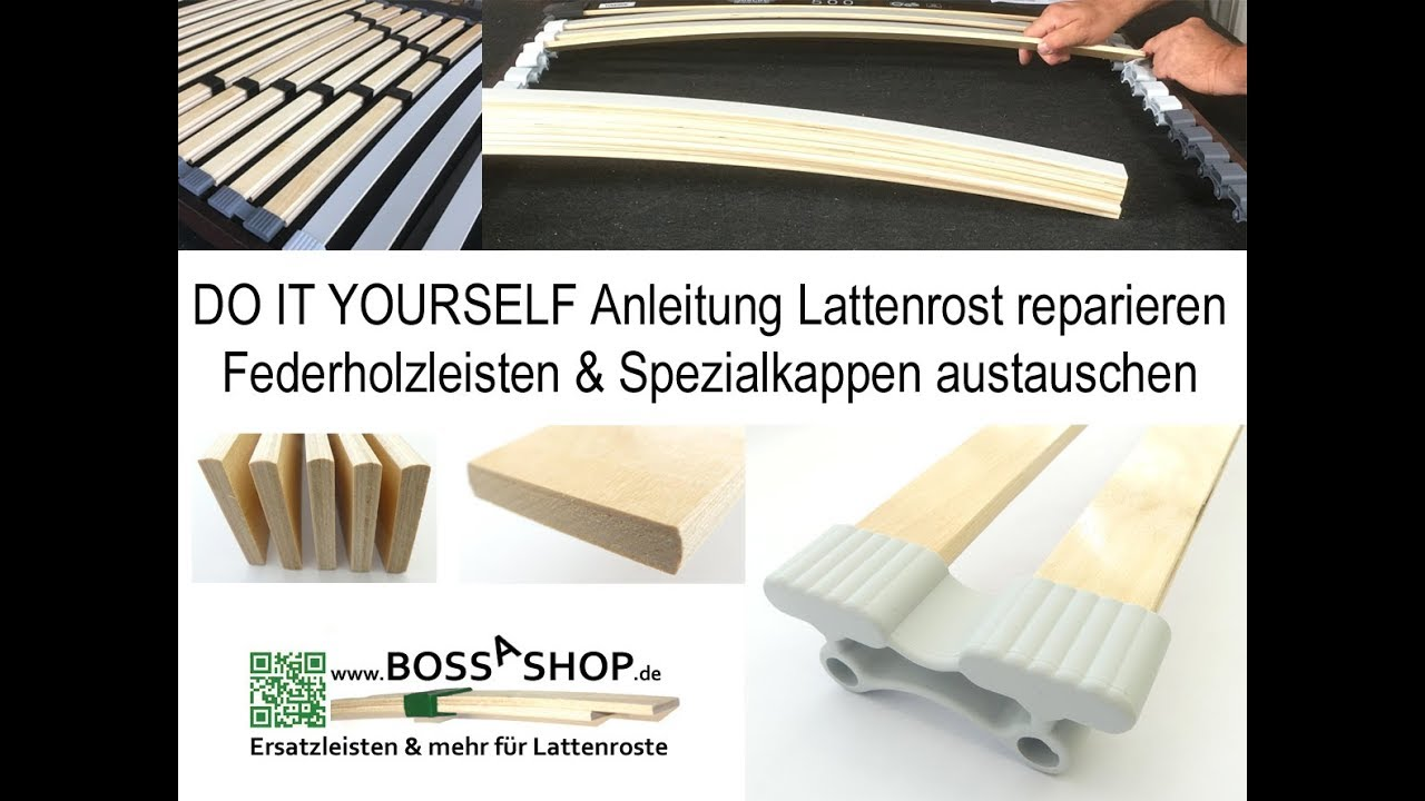 Bossashop De Lattenrost Reparieren Mit Federholzleisten Spezialkappen