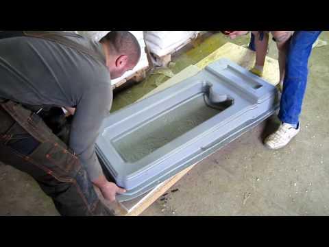 Памятники - технология мрамор из бетона