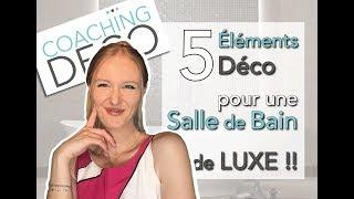 🤩 5 éléments pour 🥂 une salle de bain de luxe! 💛