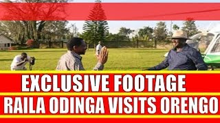 Exclusive Footage of Raila Odinga landing at James Orengo palatial home in Siaya yesterday