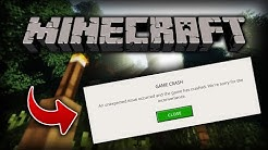 Minecraft 1.13 Crashing on Startup FIX | How to fix Minecraft Crash on Startup?! ?