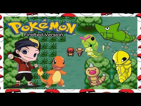 Pokémon Fire Red Floresta de Viridian e chegando na Cidade de Pewter!!!