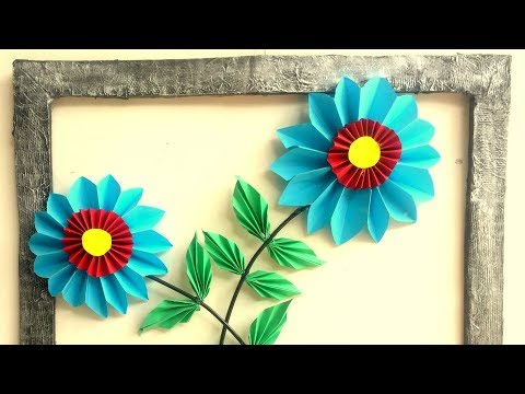 DIY - Paper Flower Wall Decor | Home Decoration Idea | Wall Hanging from Paper