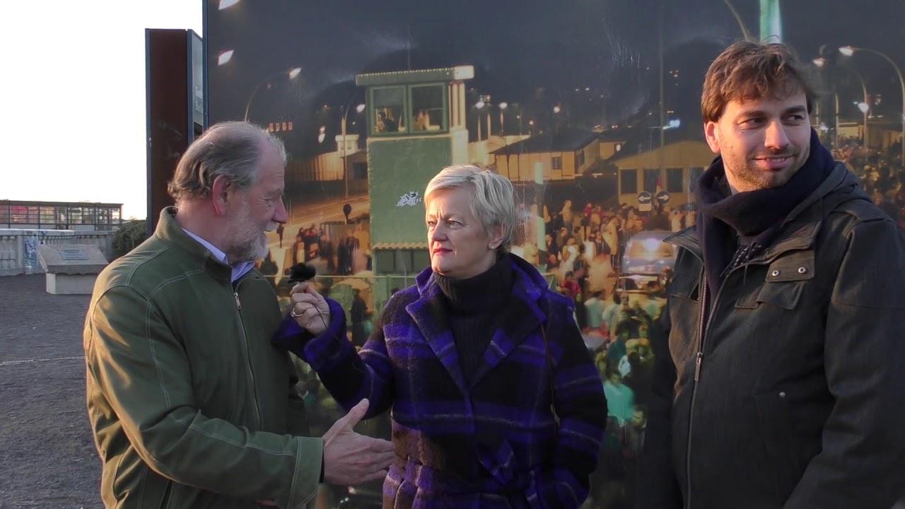 30 Jahre offene Grenzen: An der Bösebrücke im Gespräch mit Renate Künast und Michael Cramer
