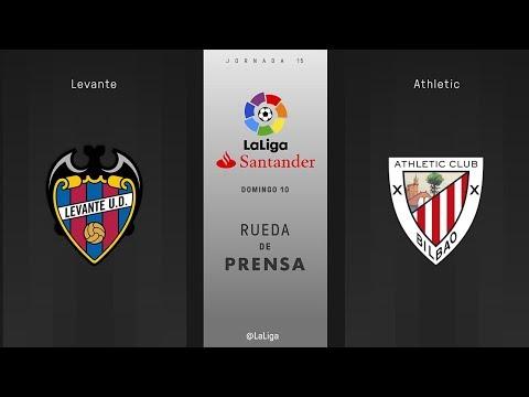 Rueda de prensa Levante vs Athletic