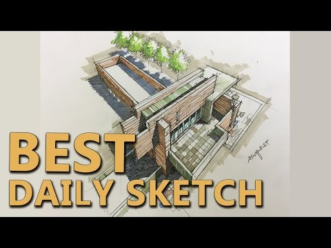 BEST Daily sketch. Landscape and architecture.