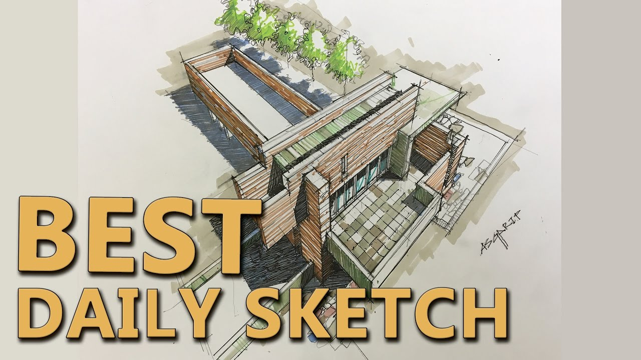 Best Daily Sketch Landscape And Architecture Youtube