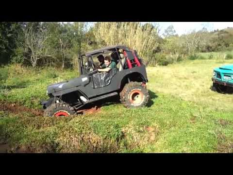 Pampa Jipe Clube Trilhazinha Willys 41 GM Turbo Morcha com Dudu na Pilota Representando
