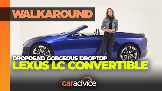 2020 Lexus LC500 Convertible Walkaround: Oof, That V8 Sound!   CarAdvice